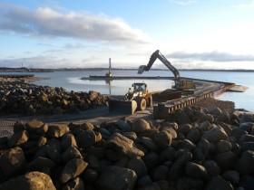 Stemningsbillede fra udvidelsen af Fur Havn