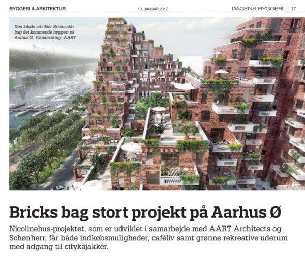 Dagens Byggeri – Bricks bag stort projekt på Aarhus Ø