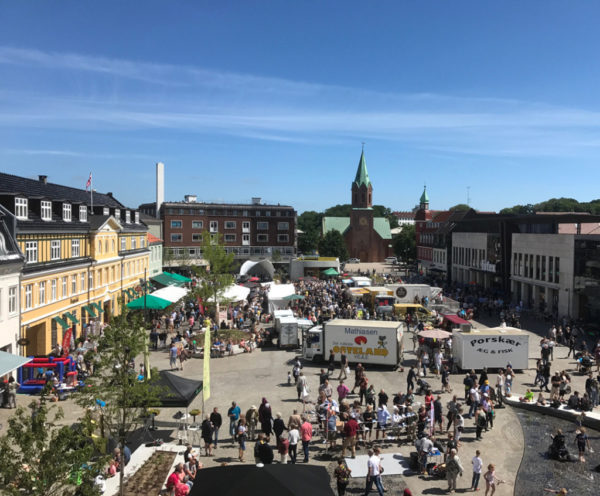 Silkeborg torv indviet