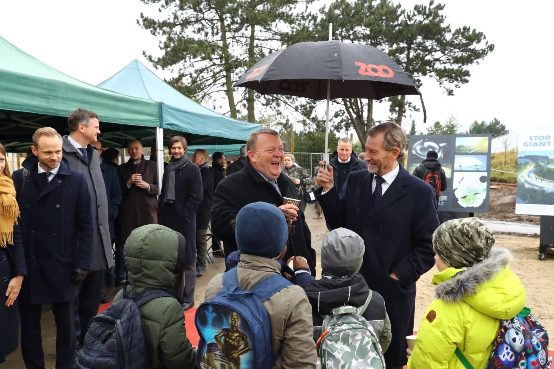 Statsminister Lars Løkke Rasmussen i selskab med bestyrelsesmand i Zoo, Jørgen A. Horwitz
