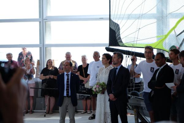 Kronprinseparret indvier Aarhus Internationale Sejlsportscenter