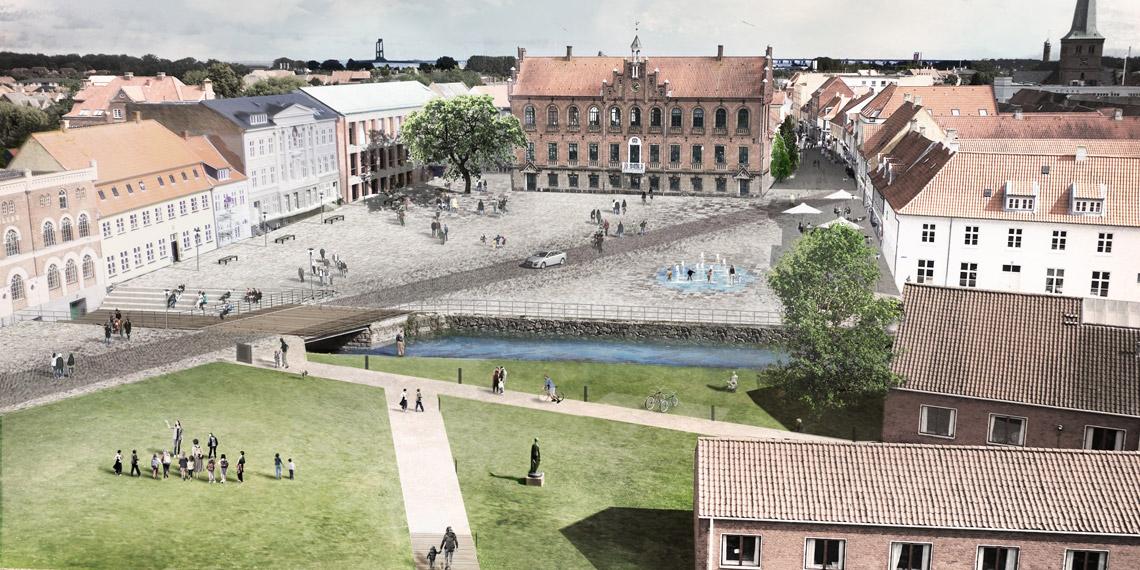 Nyborg Torv og Slot Visualisering