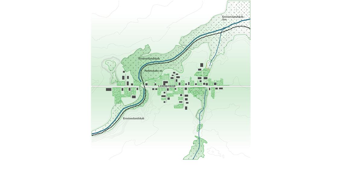 Løkkesvej Plantegning - landsbyen om 10 år