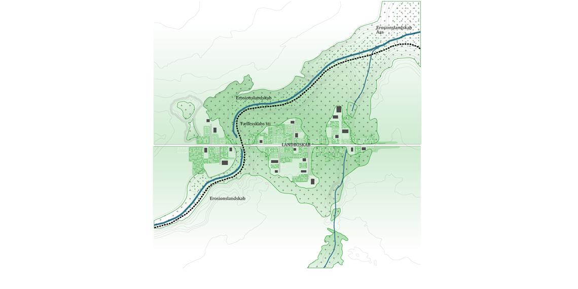 Løkkesvej Plantegning - landsbyen om 20 år